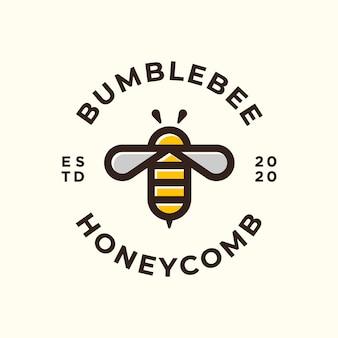 Пчела логотип и значок.