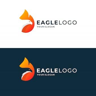Орел логотип и значок дизайн концепции.