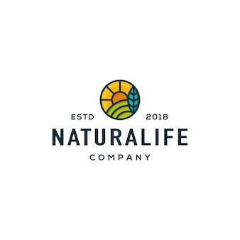自然のロゴデザインコンセプト。普遍的な自然のロゴ。