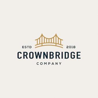 橋のロゴデザインコンセプト。ユニバーサルブリッジのロゴ。