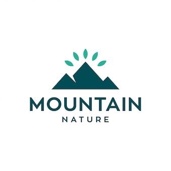 山のロゴデザインコンセプト。普遍的な自然のロゴ。