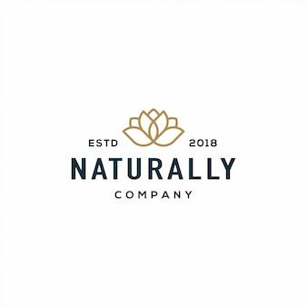 Природа цветок логотип