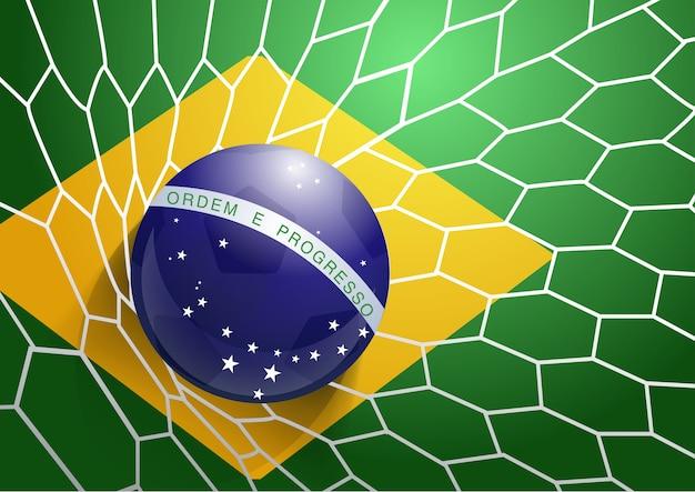Футбол флаг флаг флаг бразилии
