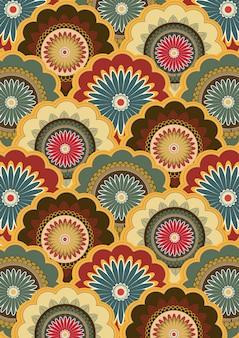 Пейсли узором индийского искусства живописи