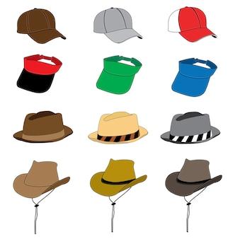 ファッション帽子ベクトルテンプレート