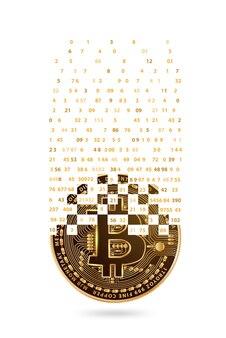 下降桁を持つ暗号通貨ゴールドコイン