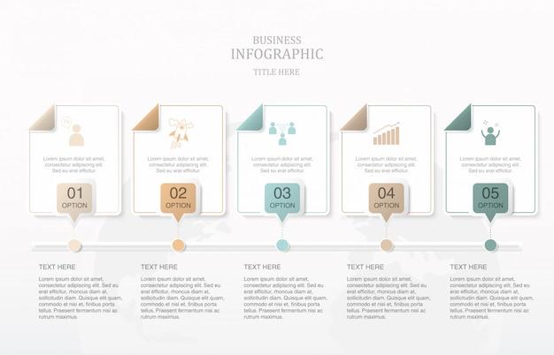 正方形のボックスのテキストのインフォグラフィック。