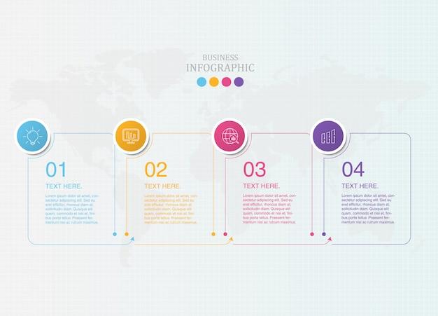 現在のビジネスの標準的なインフォグラフィックとアイコン。
