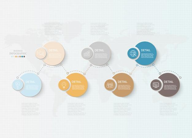 基本的なサークルのインフォグラフィック