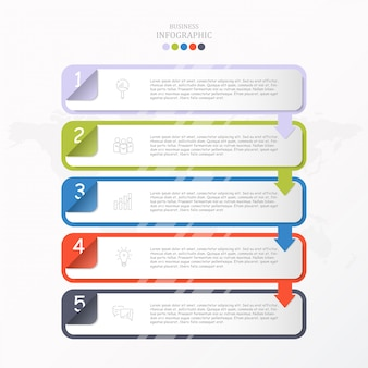 Коробка для текста инфографики шаблона