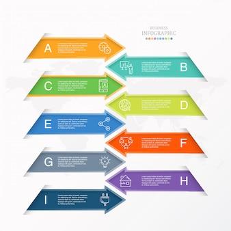 Стрелка инфографики для бизнес-концепции.