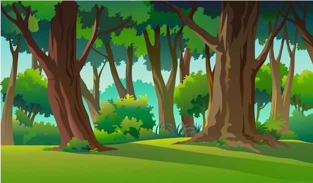 野生と自然のイラストを描く