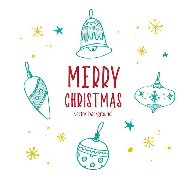 Рождественский орнамент мяч, элементы и иллюстрации. счастливого рождества.