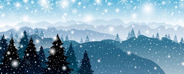 Рождественский дизайн фона
