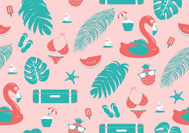 夏のシームレスパターンデザイン