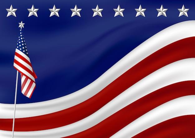 アメリカの国旗の背景