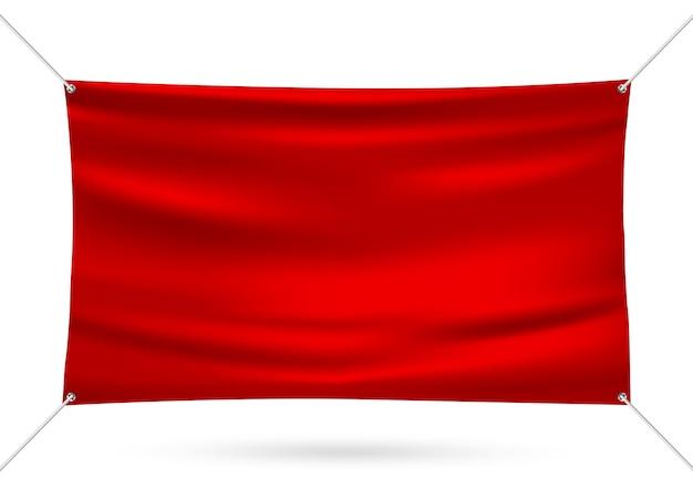 赤モックアップビニールバナー