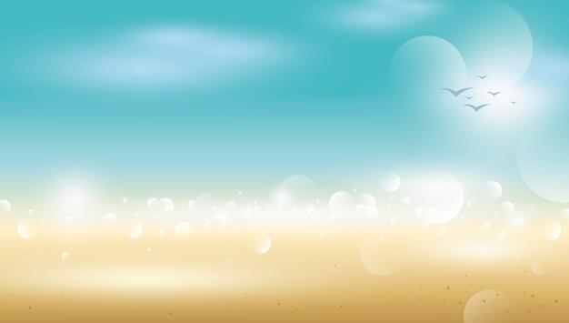 ぼかしビーチの抽象的な熱帯夏の背景