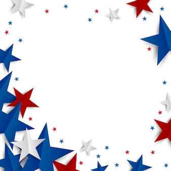 Бумага звезда на белом фоне с копией пространства день независимости и праздник баннер