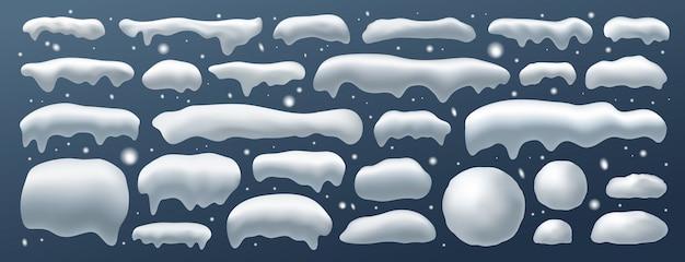 冬のクリスマスデコレーション用スノーキャップ