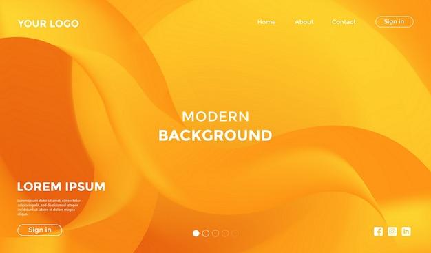 モダンな形状の幾何学的な背景を持つウェブサイトのランディングページ