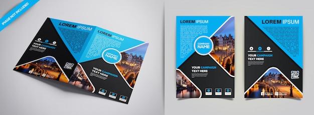 Современный бизнес брошюра креативный шаблон