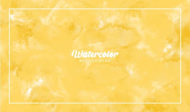 Желтая акварель абстрактный фон