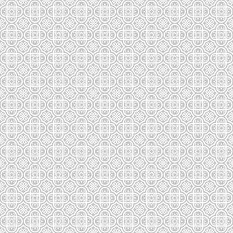 イスラムの幾何学的な円形装飾用シームレスパターン