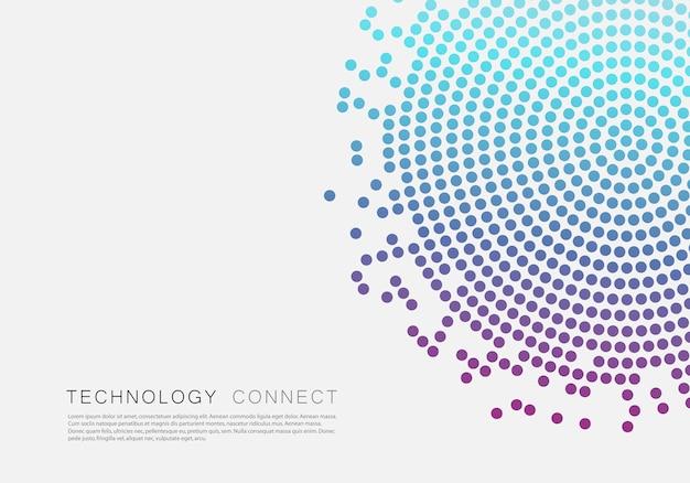 Черный абстрактный дизайн вектор круг. полутоновая текстура