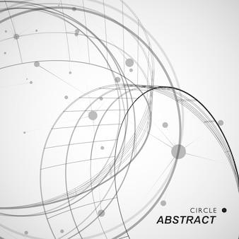 抽象的なサークルシェイプラインとドットの背景