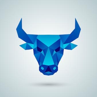 Полигональная векторная голова быка