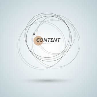 抽象的な接続サークルデザインの背景。創造的な抽象的な形
