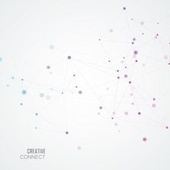 分子構造を持つ接続の背景を抽象化します。科学とネットワークの図