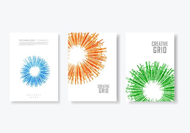 Векторные шаблоны дизайна обложки брошюры.