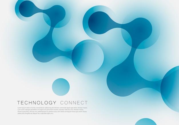 科学、化学、医学、バイオテクノロジーの技術スタイルとイメージの抽象的な接続構造