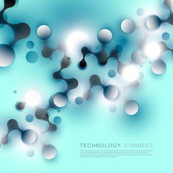 抽象的な背景は点と線を接続します。
