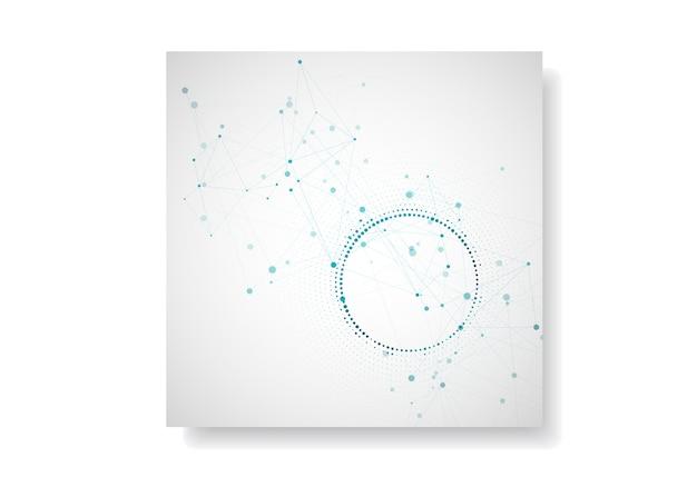 Современный геометрический фон с подключенных линий и точек. брошюра