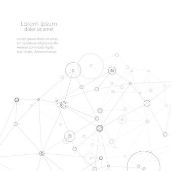 抽象的な接続構造。科学の背景