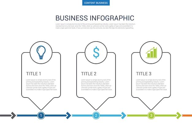 インフォグラフィックビジネスプレゼンテーションスライドテンプレート