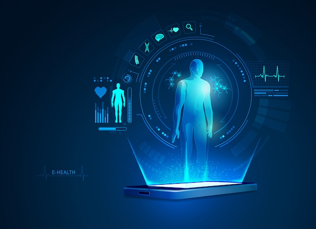 Приложение электронного здравоохранения или телемедицины на мобильном телефоне