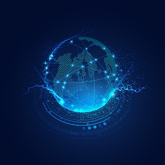 デジタルの世界における通信技術の概念