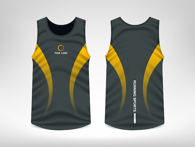 Дизайн футболки без рукавов
