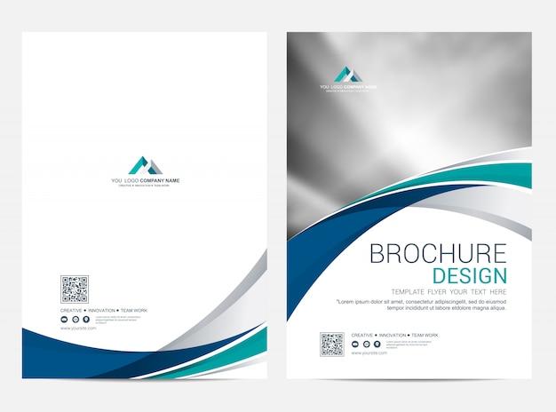 Шаблон брошюры листовки дизайн вектор фон