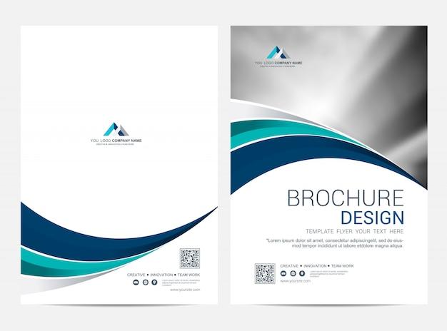 パンフレットテンプレートチラシデザインのベクトルの背景