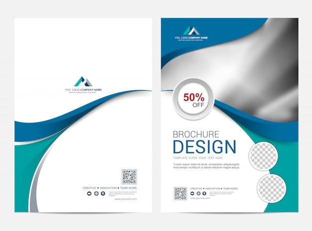 企業のビジネスフォルダーテンプレートデザイン