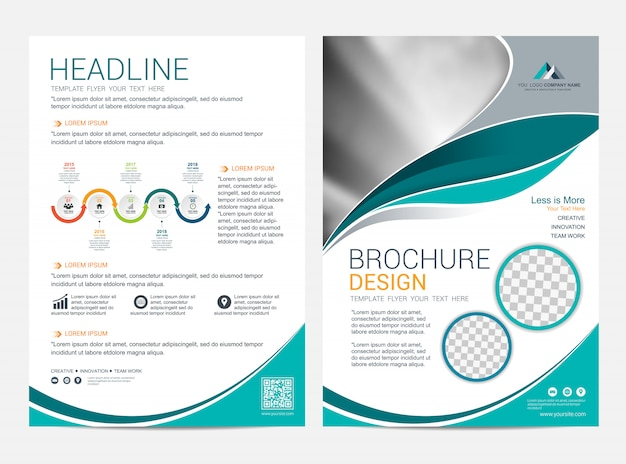 Шаблон макета брошюры, листовка листовка дизайн обложки фон