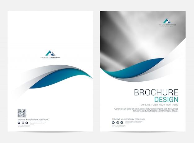Шаблон макета брошюры или флаера, дизайн обложки годового отчета