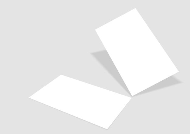 Шаблон с векторной визитной карточкой
