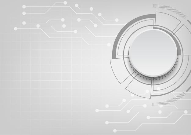 Кнопка цифрового круга с линиями