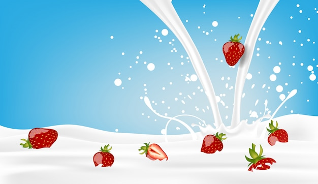 青に牛乳を注ぐとイチゴ